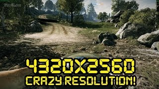 Battlefield 3: 4k gameplay (4320x2560) Ultra Setting - 2x Radeon R9 290 Crossfire