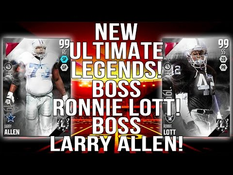 New Ultimate Legends! Boss Ronnie Lott! Boss Larry Allen! ::-XBOX ONE Madden 16 Ultimate Team