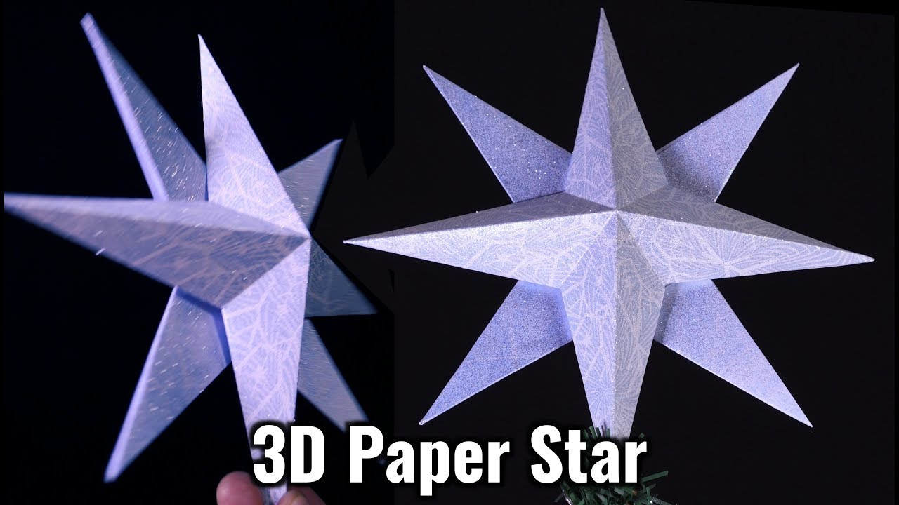 3d Paper Star 6 Steps With Pictures Instructables