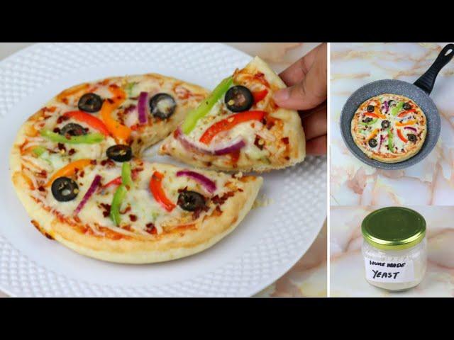 বাড়িতে নিজেই তৈরি করুন ঈষ্ট এবং সেই ঈষ্ট ব্যাবহার করে প্যান পিৎজা রেসিপি | Bangladeshi Pan Pizza