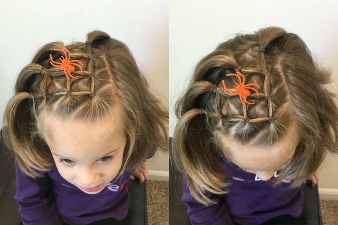 Spider Web Hairstyle Elastic Style For Short Long Hair Youtube