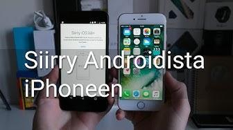 Vaihto Androidista Applen iPhoneen: tiedostojen siirto