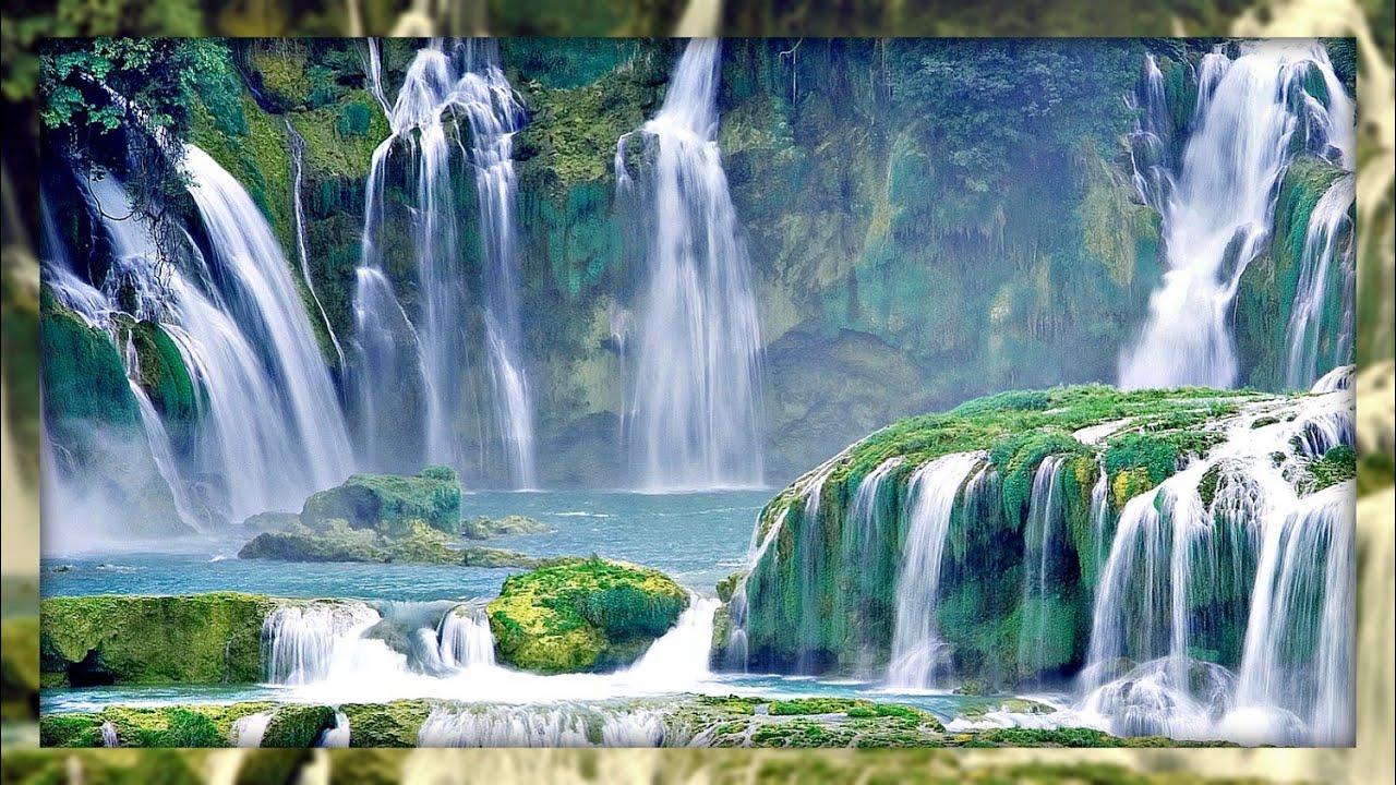 Tropical Island Beach Ambience Sound: Gentle Waterfall