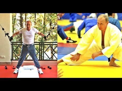 Russian president Vladimir Putin's Workout in The Gym  & Judo Training