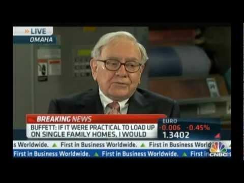 Warren Buffett talks investing in single family homes on CNBC