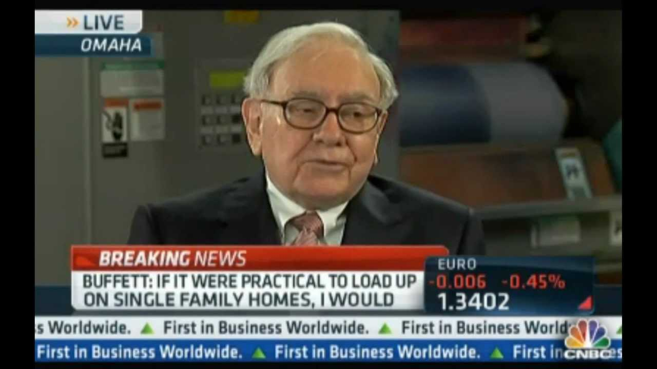 Warren Buffett talks investing in single family homes on CNBC