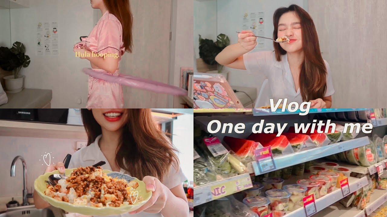 Vlog one day with me (●'◡'●)ノ♡  หนึ่งวันทำอะไรบ้าง? | pingvibes