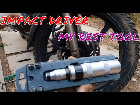 How to use an impact driver to release seized screws and bolts.