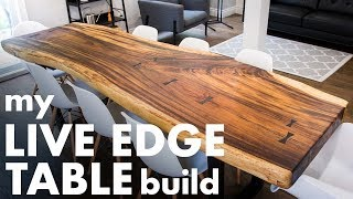 My LIVE EDGE TABLE Build!