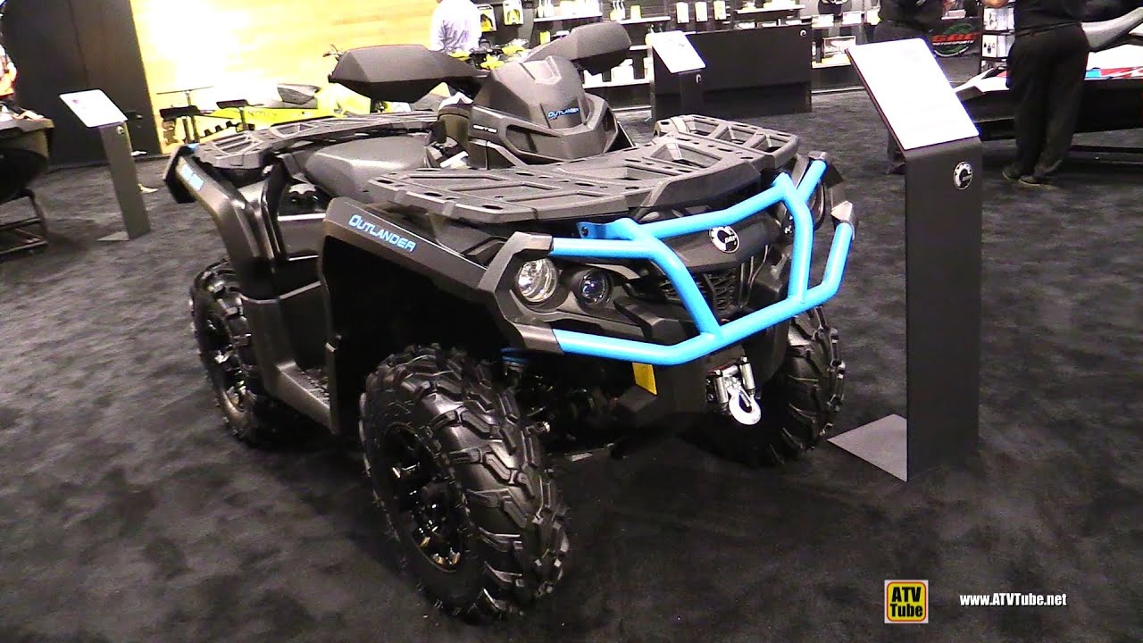 Can Am Outlander 1000 Xmr >> 2016 Can Am Outlander XT 850 Recreational ATV - Walkaround - 2015 AIMEXPO Orlando - YouTube