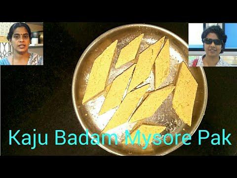 Kaju Badam Mysore Pak |Diwali Spl (Suhasini Deepak)