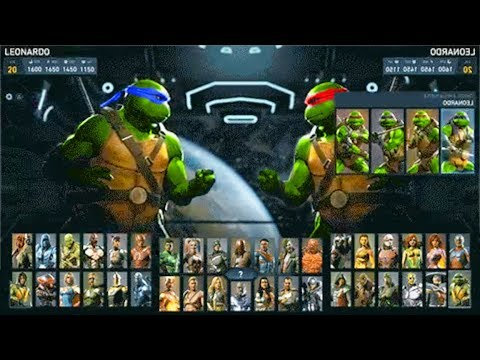 INJUSTICE 2 - TMNT SELECT SCREEN! (Official Ninja turtles Select Screen Animation)