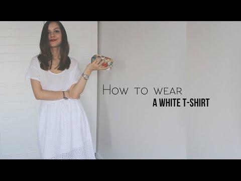 С чем и как носить белую футболку