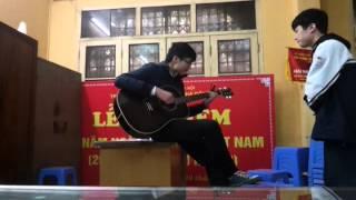 Cỏ và mưa guitar Cover