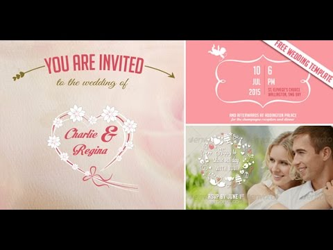 Free Video Wedding Invitation  Save The Date After Effects Template
