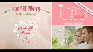 Free Video Wedding Invitation & Save The Date After Effects Template