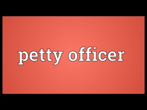 Petty officer Meaning