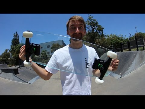 EXTREMELY DANGEROUS GLASS SKATEBOARD |  YOU MAKE IT WE SKATE IT EP 13