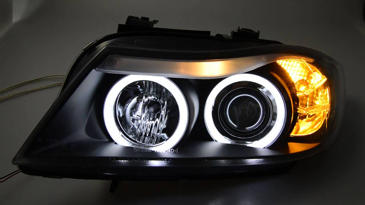 sw ccfl angel eye headlights 3er bmw e90 e91black sw tuning youtube. Black Bedroom Furniture Sets. Home Design Ideas