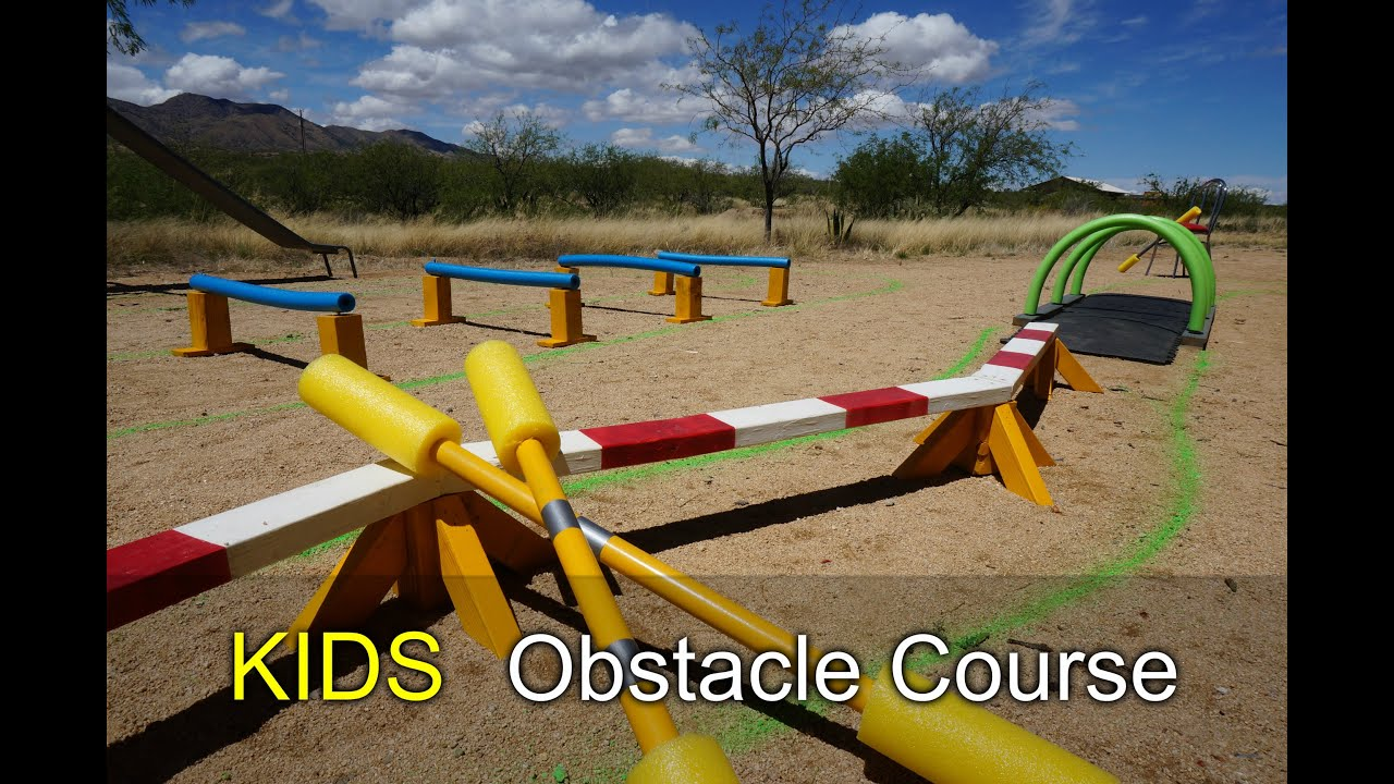 ec9b8ea7e6a Kids Obstacle Course - How to with scrap wood and pool noodles - YouTube