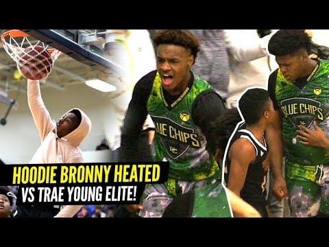 VIDEO: Bronny James 1st 360 DUNK!! Bronny Gets HEATED vs Trae Young's Team! Blue Chips Put To The TEST!