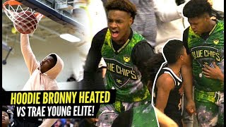 Bronny James 1st 360 DUNK!! Bronny Gets HEATED vs Trae Young's Team! Blue Chips Put To The TEST