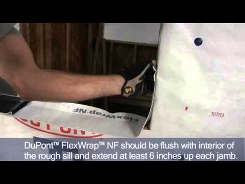 Install And Flash A Flanged Window Using Flexwrap Nf And