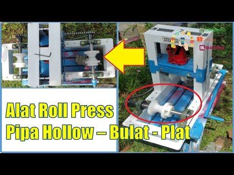 Cara Membuat Pipa Lengkung dengan Alat Roll Pipa