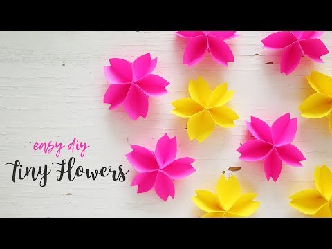 DIY Tiny Paper Flowers | Paper Flower Making