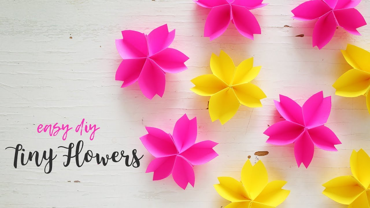 Diy Tiny Paper Flowers Paper Flower Making Youtube