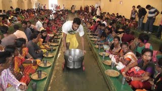Lakhs of People Eating Bhog in The Occasion of Lord Krishna Birthday  | ISKON Temple Mayapur