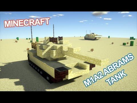 Minecraft M1A2 Abrams Tank Tutorial (v2.0)