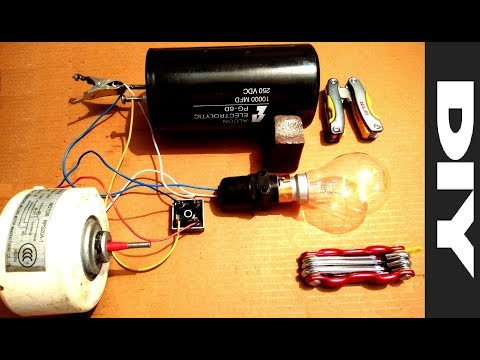 Free Energy Generator From A Dead Induction Motor Diy Part 2