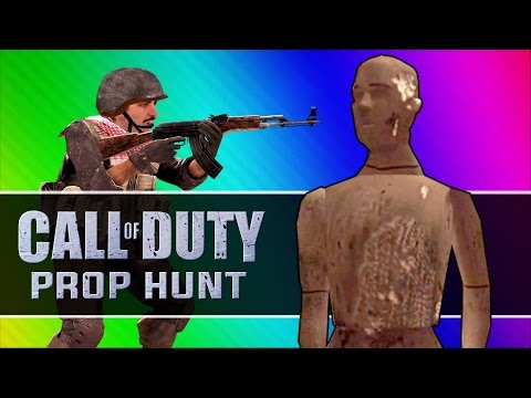 Call of Duty 4: Prop Hunt Funny Moments - Thanks, Christmas Props, Grenade Test, Best Glitch Ever!