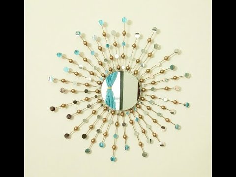 DIY Sunburst Mirror, How to make a Sunburst Mirror Wall Hanging, DIY Wall Hanging, Best out of Waste