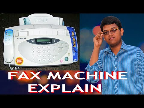 HOW FAX MACHINE WORK Explain in hindi