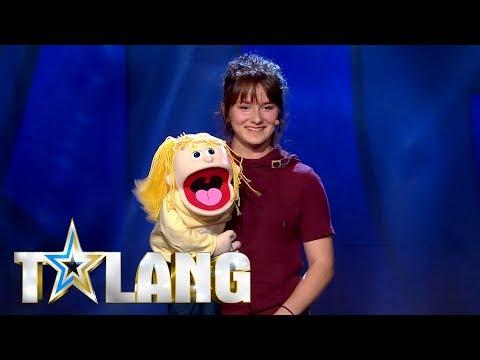 Stephanie Elovsson-Jägmo buktalar i Talang 2018 - Talang (TV4)