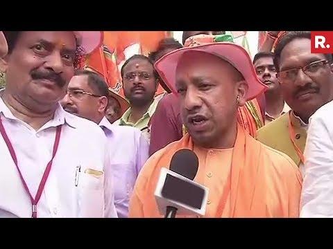 Yogi Adityanath joins the Jan Raksha Yatra In Kerala