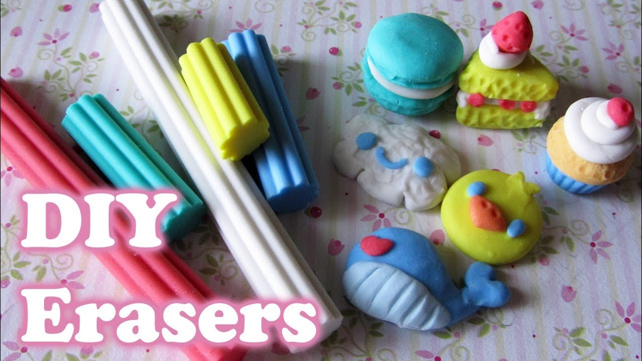 Make your own erasers with eraser clay 5 different shapes youtube solutioingenieria Image collections