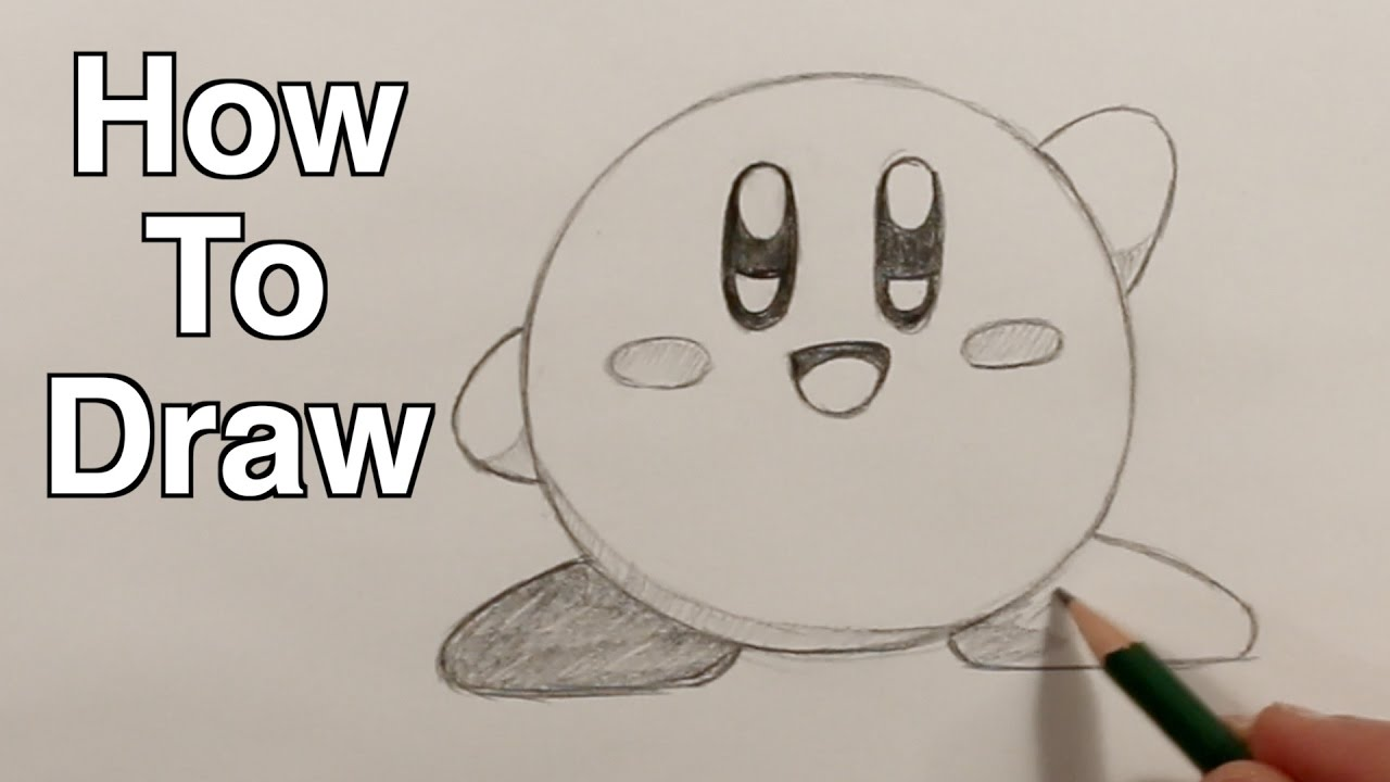 how to draw kirby easy drawing tutorial for kids youtube