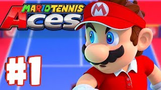 NEW Mario Online Tournament! - Mario Tennis Aces Gameplay #1 (Switch)