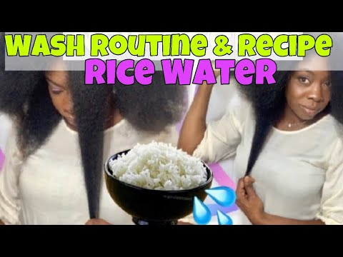 HOW TO MAKE RICE WATER SUPER HAIR GROWTH TREATMENT & RICE WATER WASH DAY ROUTINE on Natural Hair