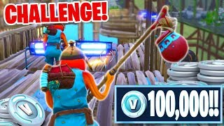 Fortnite FREE 100,000 VBUCKS Challenge! w/PrestonPlayz (Fortnite Creative Mode!)