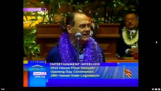 Hawaii State Legislature opening day 2015