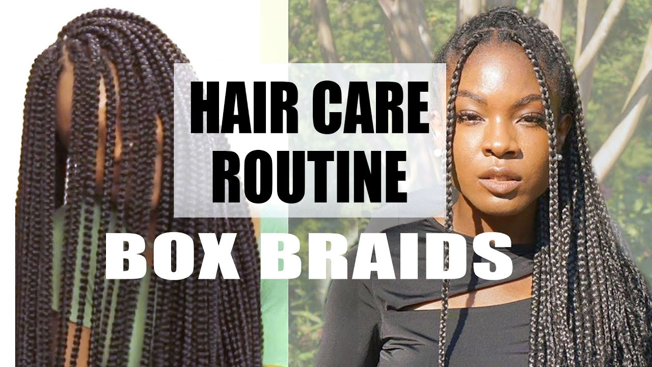 Taking care of hair in braids