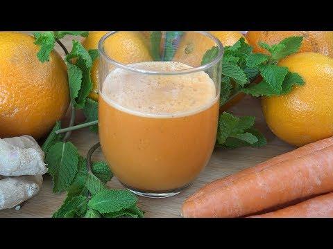 cómo se hace el jugo de zanahoria con naranja