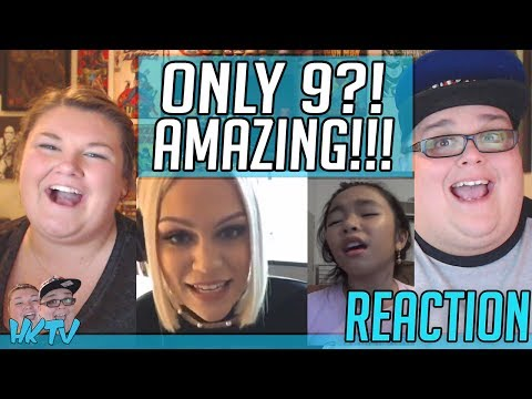 9 year old Bernice Shane Sabino sings Flashlight with Jessie J! REACTION!! 🔥