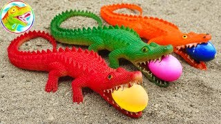 Walking dinosaurs lay eggs and cute crocodiles - children's toys G519X ToyTV