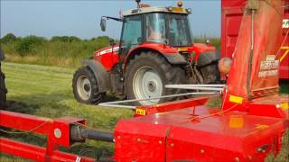 2nd cut silage 2013 Part 1 claas 650 Arion Tractor first test