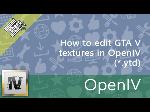 How to edit GTA V textures in OpenIV ( ytd) - YouTube